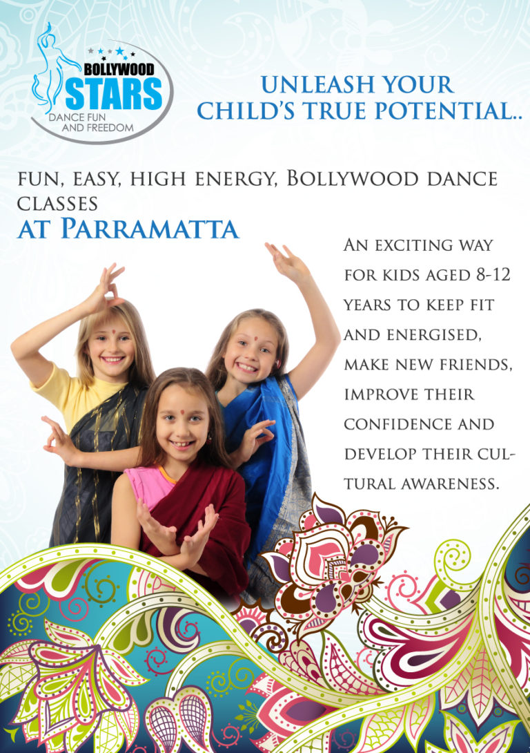 Bollywood Stars Dance Classes Flyer AFront